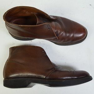 LL Bean Brown Pebbled Leather Chukka Boots